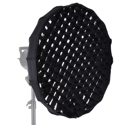 16-Pole 60cm Folding Collapsible Beauty Dish Softbox with Honeycomb Grid Bowens Mount for Studio Strobe Flash Light