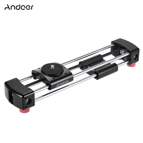 Andoer GT-V250 Mini Manual Track Slider-Kamera Video-Slider 365mm Doppel Gleitstrecke für GoPro Action-Kamera Smartphone Pocket-Kamera Mini-Spiegelreflexkameras