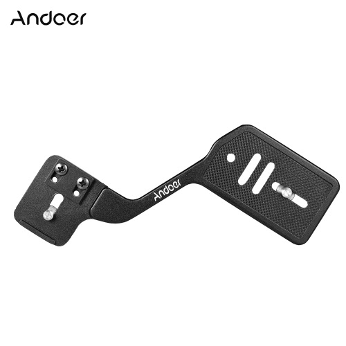 Andoer Universal Aluminum Bracket Mount Holder for Camera Speedlite Flash Light with 1/4