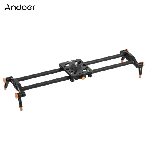 Andoer 60cm Carbon Fiber Track Dolly Slider Rail Stabilization System for Video Movie Film Shooting for Canon Nikon Sony DSLR Cameras Camcorders