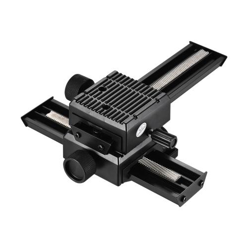 Andoer 4-kierunkowy Makro-ustawianie ostrości Fotografowanie w supersamochodowym suwakie do statywów Nikon Canon Pentax Olympus Panasonic DSLR Camera