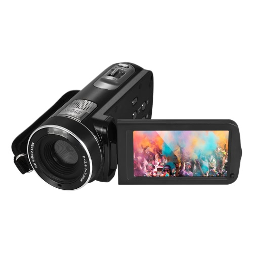1080P Full HD Digital Video Camera Camcorder 16× Digital Zoom with Digital Rotation LCD Touch Screen Max. 24 Mega Pixels Support Face Detection