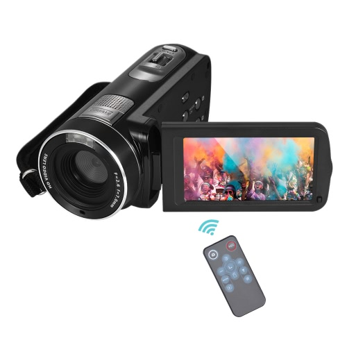 1080p full hd digital video camera camcorder 16× digital zoom with face detection