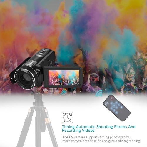 1080p Full HD Digital Videokamera-Camcorder 16 × Digitalzoom mit Digital-Rotation LCD-Touch-Screen-Max. 24-Megapixel-Unterstützung Gesichtserkennung