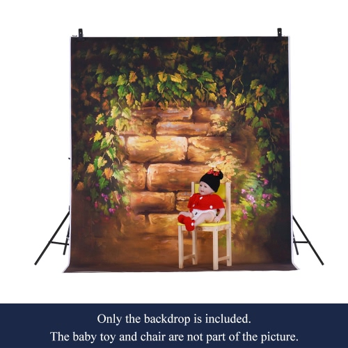 Image of 1.5 * 2m Photography Background Backdrop Computer Printed Flower Brick Pattern