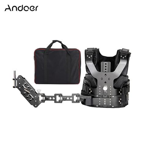 Andoer B200-C1 Pro Video Studio Fotografía de aleación de aluminio de carga Chaleco Rig 16 mm Estabilización solo hombro de amortiguación brazo de soporte para portátil Steadycam del estabilizador DSLR videocámara de la cámara de cine para hacer películas Capacidad de carga 5-8kg / 11-17.6Lbs