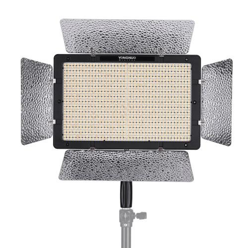 YONGNUO YN1200 luz de vídeo LED Fotografía 3200K-5500K y grabación de vídeo Luz de relleno w / regulador del brillo ajustable a distancia CRI≥95 Apoyo aplicación de control remoto de iluminación de estudio