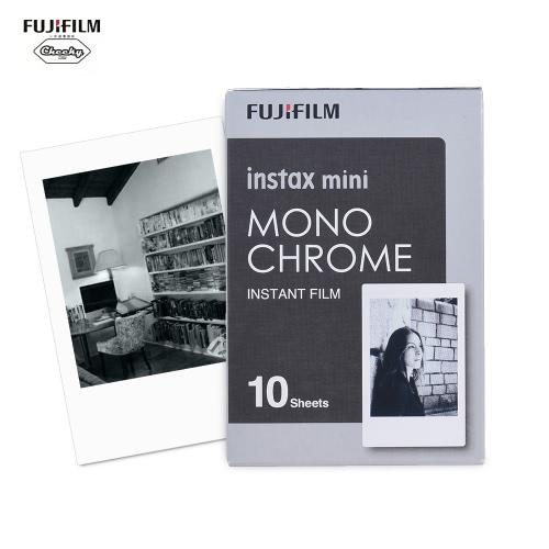 Fujifilm Instax Mini 10 arkuszy Monochromatyczny papier monochromatyczny czarny film fotograficzny Papier błyskawiczny dla drukarek Fujifilm Instax Mini7s / 8/25 / 50s / 70/90 SP-1 / SP-2