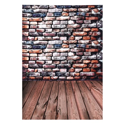 Andoer 2 * 3m/6.6 * 9.8ft Large Photography Backdrop Background Brick Wooden Floor Pattern for Baby Newborn Children Teen Adult Photo Video Studio