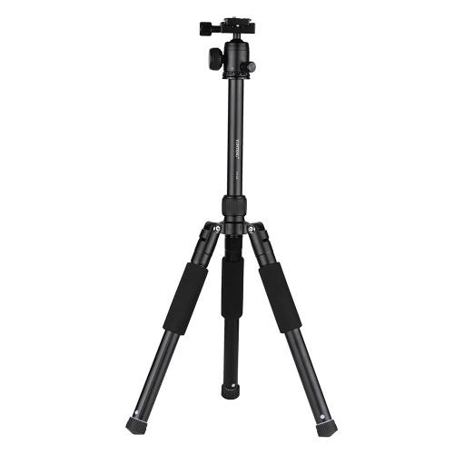 YUNTENG VCT-190 Professionelles tragbares Aluminium-Kamerastativ auch als Monopod mit Kugelkopf 5 Sektionen Max. Laden Sie 2,5kg für Canon Nikon Sony DSLR ILDC Kamera Camcorder DV