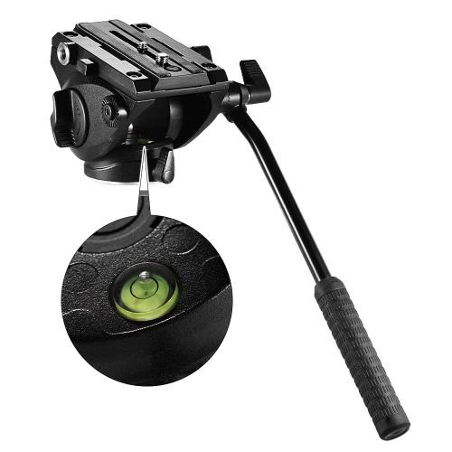 Andoer Lightweight Fluid Head Hydraulic Drag Head Three-dimensional Tripod Head 360° Panoramic Shooting