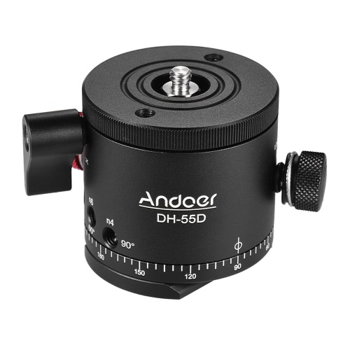 Andoer DH-55D HDR Panorama Panoramic Ball Head with Indexing Rotator Aluminum Alloy Max. Load 15kg/33Lbs