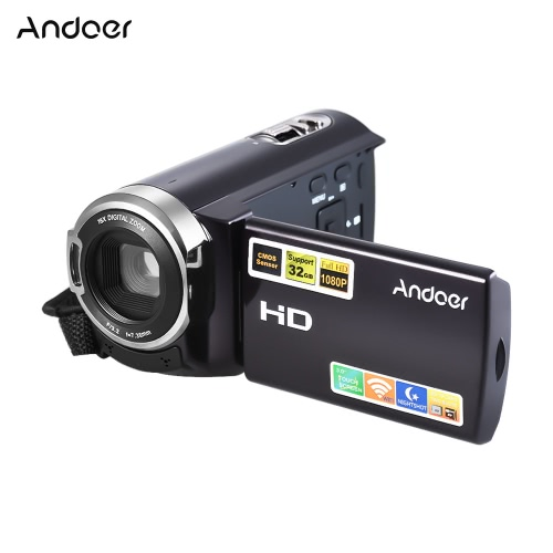Andoer HDV-5052STR Upgraded Version Portable 24Mega Pixels Digital Video Camera 1080P Full HD with Night-shot Digital Camcorder 3.0