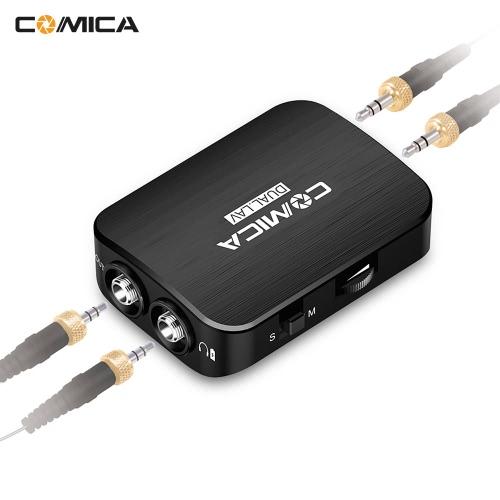 COMICA DUAL.LAV-D03キヤノンニコン用デュアルヘッドラヴァリエラペルマイクロフォンクリップオンオムニコンデンサマイクソニーDSLRカメラ用ビデオカメラiPhone 6用AndroidスマートフォンGoPro 4/3 + / 3用