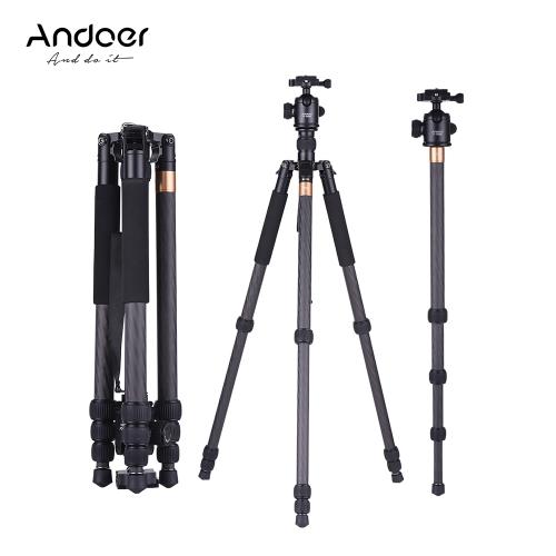 Andoer TP-999BC Trépied professionnel en fibre de carbone portable