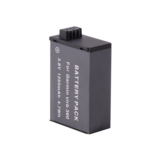 Andoer 3.8V 1250mAh Rechargeable Li-ion Battery Pack Panoramic Camera Battery 4.7Wh for Garmin Virb 360 Camera
