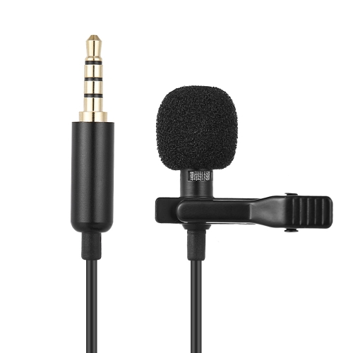 Andoer EY-510A Mini Portable Clip-on Lapel Lavalier Condenser Mic Wired Microphone