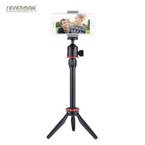 SEVENOAK SK-T1 Mini Tabletop Video Trípode Stand Selfie Stick con Ball Head