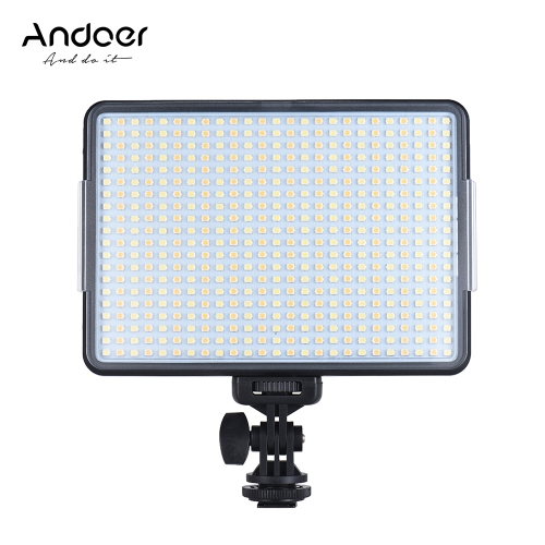 Andoer W500プロフェッショナルDimmable LEDビデオライトフィルライト