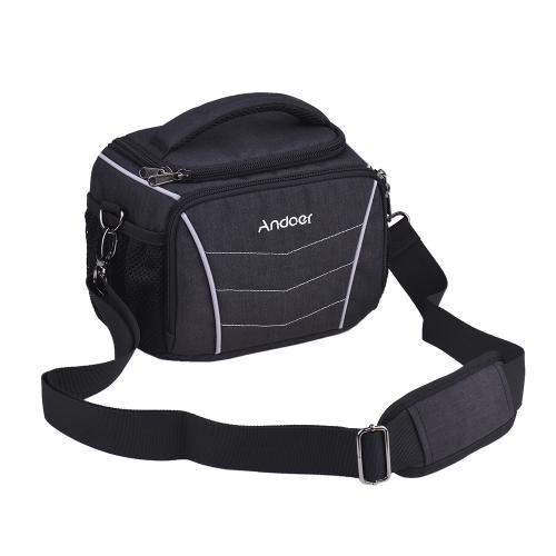 Andoer elegante multifunción cámara hombro Bag-Black
