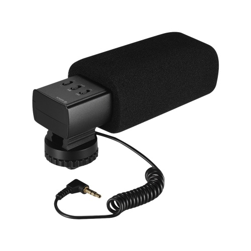 K & F CONCEPT S5 Micrófono estéreo con escopeta de video