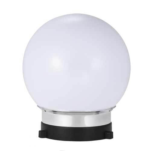 7inch Spherical Monolight Diffuser Ball with Bowens S-type Mount for Studio Lighting Flash