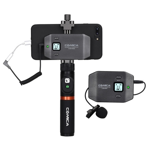 COMICA CVM-WS50(A) 6-Channel UHF Wireless Smartphone Lavalier Microphone System D5644