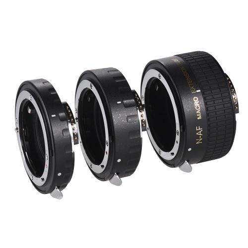 Auto foco macro tubo de extensão conjunto de cobre AF macro anel de tubo de extensão de lente com capas para Nikon D7000 D7000 D7200 D7200 D800 D810 D850 D5500 D5600 D5100 D5300 Lentes D3300AL