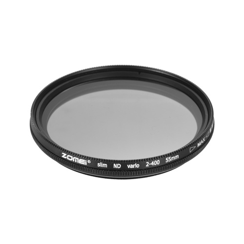 ZOMEI 55mm Ultra Slim Variable Fader ND2-400 Neutral Density ND Filter Adjustable ND2 ND4 ND8 ND16 ND32 to ND400 for Sony 18-55mm 55-200mm 55-250mm Lens D5856-4