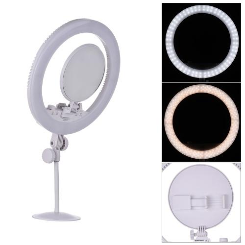 YONGNUO YN208 3200K-5500K Двухцветный светодиодный видеоролик Тип кольца Украсить Заполняющий свет с помощью зеркала для зеркального телефона для портретной фотографии Live Show Beauty Selfie