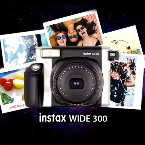 Fujifilm Instax WIDE300 Instant Camera Film Cam Wide Picture Format with Battery Wrist Strap Birthday Christmas New Year Festival Gift