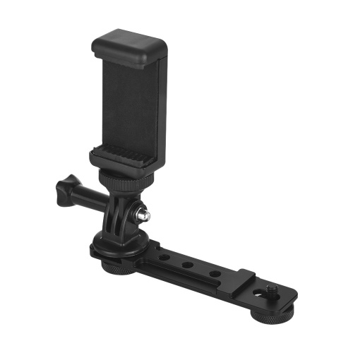 Smartphone Clip Holder Monitor Extension Bracket Support Mount Stabilizer for DJI OSMO Mobile 2 for Zhiyun Smooth Q Handheld Gimbal Stabilizer for gopro6/5/4 Camera