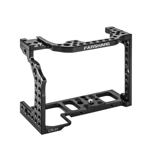 Alliage d'aluminium Cage de caméra Film vidéo Film Stabilisateur de film pour Canon EOS R Full Frame ILDC caméra avec support de chaussure froide pour bras magique Microphone Moniteur vidéo