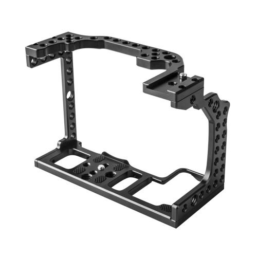 Aluminum Alloy Camera Cage Video Film Movie Rig Stabilizer for Canon EOS R Full Frame ILDC Camera with Cold Shoe Mount for Magic Arm Microphone Video Light Monitor