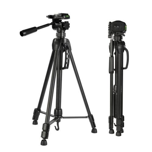 K&F CONCEPT 60 Inch Lightweight Travel Camera Tripod Compact Aluminum Alloy Folding Tripod Stand