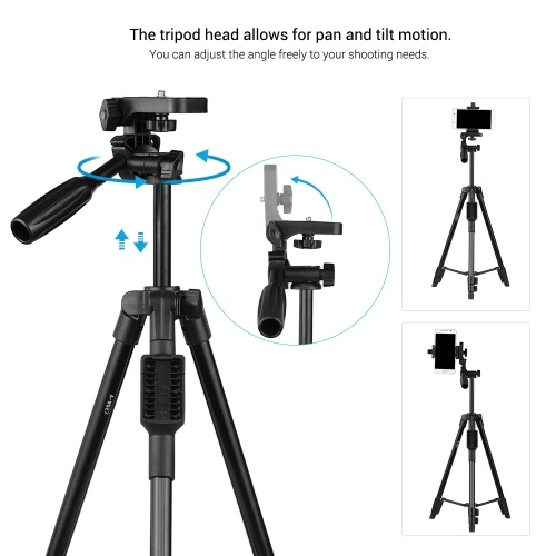 Color : Black, Size : One Size Desktop Tabletop Stand Compact Tripod for Projector Camera for Travel and Work Aluminum Alloy Mini Tripod
