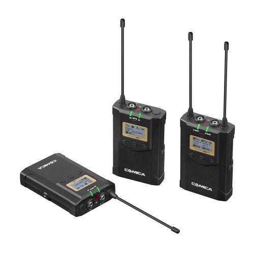 CoMica CVM-WM100 PLUS UHF-48-Kanal-Dual-Lavalier-Mikrofon