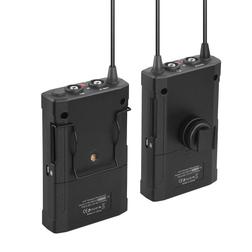 CoMica CVM-WM100 PLUS Microphone sans fil Dual Lavalier UHF à 48 canaux
