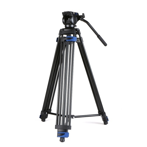 Monopiede per fotocamera digitale professionale DSLR con piastra panoramica a 360 ° Piastra a sgancio rapido a 3 sezioni per videocamera Nikon Sony DSLR Videocamera max. Altezza 72 pollici max. Caricare 25 kg