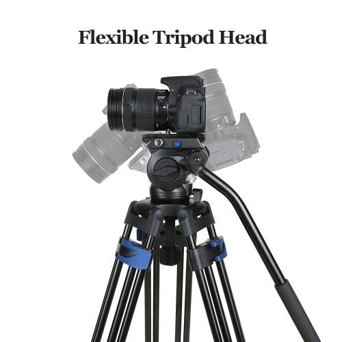 Профессиональный штатив для зеркальной фотокамеры Монопод с шаровой головкой 360 Panorama 3-секционная телескопическая телескопическая камера для Nikon Sony Max. Высота 72 дюйма Макс. Нагрузка 25 кг фото