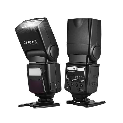 Luz de flash profissional na câmera