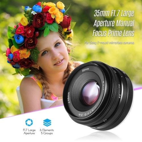 35mm f/1.7 Manual Focus Mirrorless Lens Prime Lens