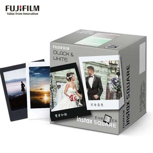 Fujifilm Instax Square Film 30 feuilles de papier photo Edge Film blanc et noir Edge