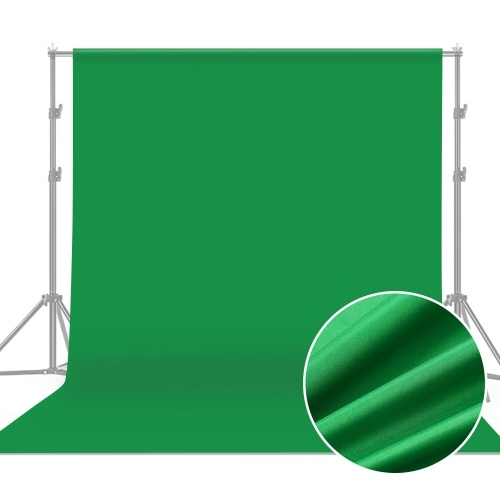 Andoer 1.8 * 2.7m / 6 * 9ft Professional Green Screen Backdrop Studio Photography Background Washable Durable Polyester-Cotton Fabric Seamless One-Piece Design for Portrait Product Shooting