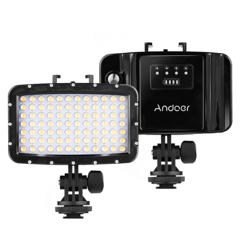 Andoer W84 Rechargeable Sports Camera Diving Light 50m Waterproof DSLR Camera LED Video Light Fill-in Lamp