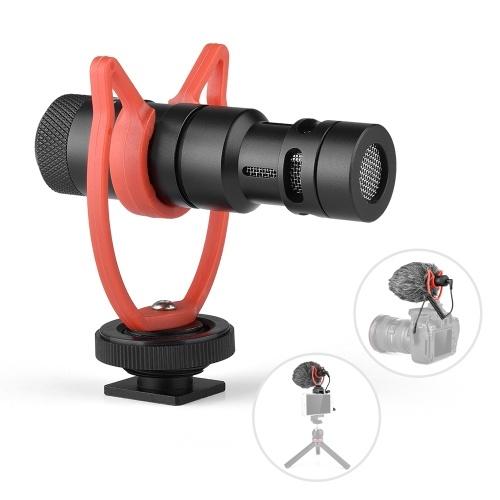 Andoer MIC10 Mini Microphone Plug-and-Play Mic 3.5mm Plug with Shock Mount Wind Screen