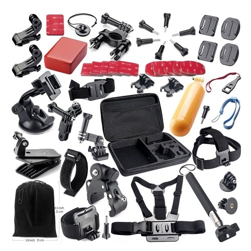 Kit de accesorios de montaje de cámara de acción 44 en 1