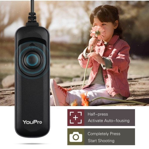 YouPro DC2 Type Shutter Release Cable Timer Remote Control 1.2m/3.9ft