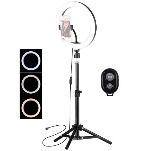 Ensemble de lampe de photographie à anneau LED de 10 pouces