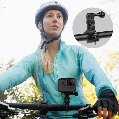 Aluminium Alloy Bike Bicycle Handlebar Mount Holder 360 Degrees Rotary Camera Mount Accessories Replacement for Gopro Hero 9/8/7/6/5/4 SJCAM YI DJI Osmo & Other Action Camera